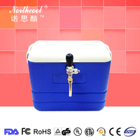 Thermoelectric ice cooler plastic coil jockey beer dispenser ice box