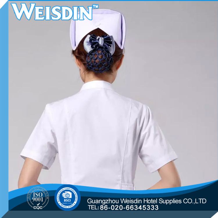 hot sale clothing linen high quality nurse chinese collar scrub suit