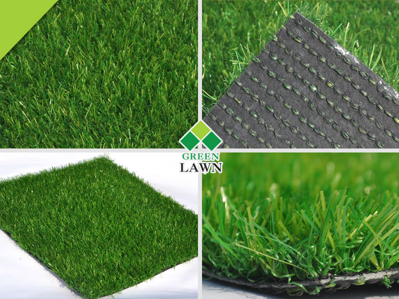 Outdoor landscaping artificial grass garden