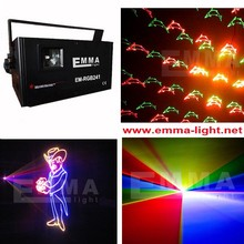 Free shipping fireworks Animation RGB Green Red Blue Full Color Laser light show ILDA