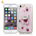Fresh strawberry with ring tpu mobile phone case for apple iphone 7/8