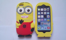 for iphone5s Minion 3D Silicone Case,3D Cute Cartoon Soft Silicon Minion Phone Case For iPhone 5S