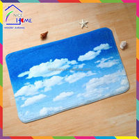 Clouds and blue sky top grade professional polyester carpet hotel floor cloth