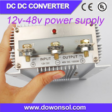 1000W plastic waterproof case buck/boost converter converter 12v to 48v high voltage power supply