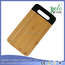 Hand painted medium bamboo slim cutting board for bread board