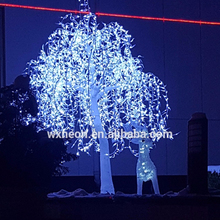 2018 new hot sell life-like led lighted white color artificial willow trees