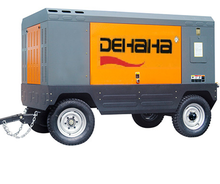 Mobile diesel engine driven air compressor for mining