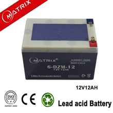 6-DZM-12 Rechargeable Storage Battery for E-Bike 12v 12ah