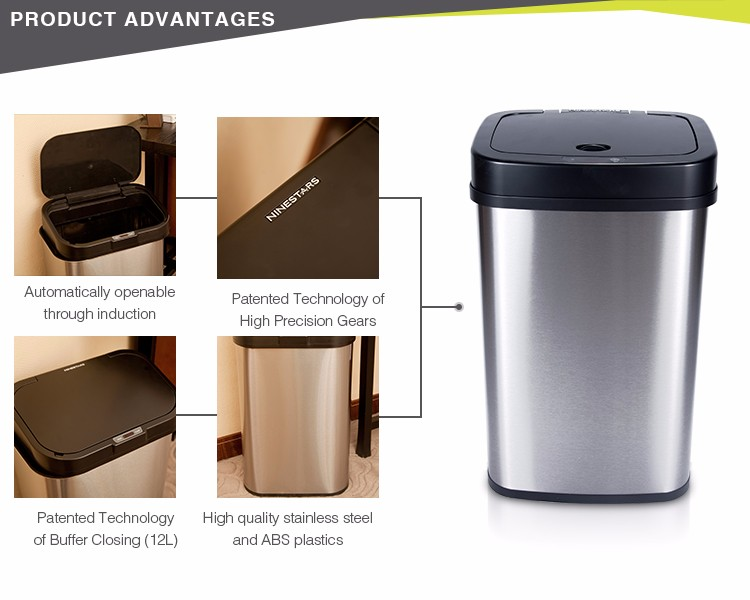Ninestars High Quality Waterproof 15l Handmade Bulk Waste Bin For Sale