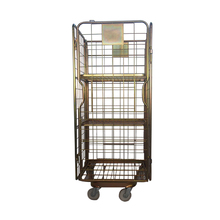 Logistic 4-sides supermarket metal roll cages