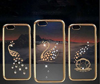 Low price! wonderful TPU phone case for iphone 6 plus Swan shells peacock pattern TPU mobile phone shell