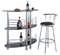 Cheap Home Bar Furniture Tempered Glass Bar Table