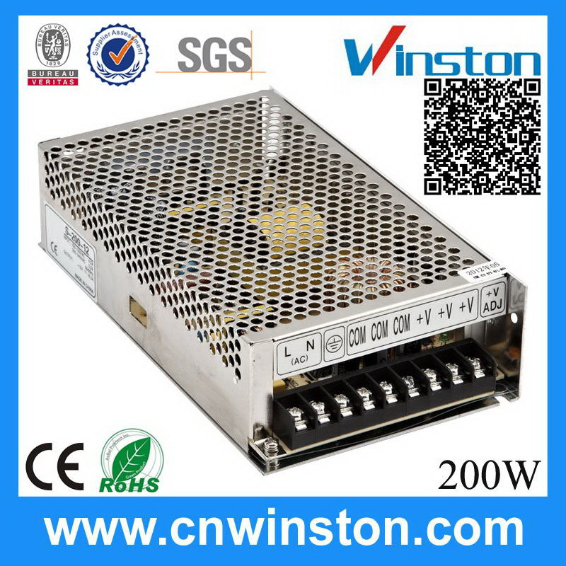 S-200-12 200W 12V 16.5A popular unique switch mode power supply oem