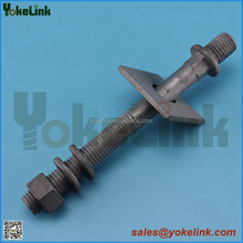 Wood crossarm 3/4'' carbon steel line post stud for power line hardware