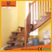 Practical design solid wood stair parts column & banister