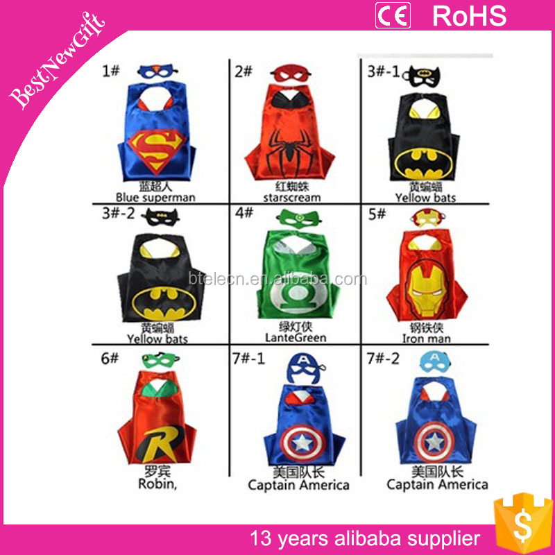 Halloween Party Superhero capes and masks Birthday Party Favors Birthday Gift The Avengers superhero capes for kids