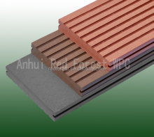 High density non-fading WPC decking boards with a realistic timber look