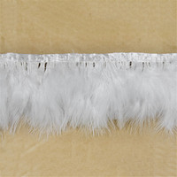 Nature Turkey fluff feathers Ribbon decorative 5.5-7inch/13-18cm wide