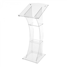 Modern Design Clear Acrylic Podium Perspex Pulpit Lectern