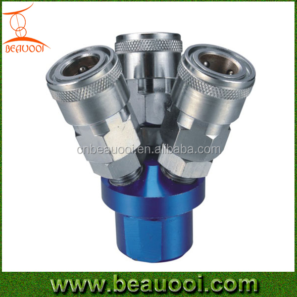 Air coupler, air manifold, 3-way valve manifold