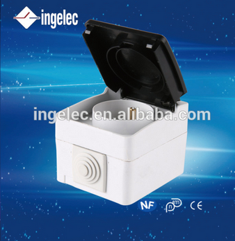 Water proof IP65 socket switch protective socket