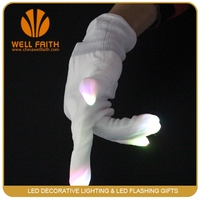 Event & Party Supplies Type and New Year Occasion LED magic gloves ,fancy led light finger gloves magic neon color changing glov