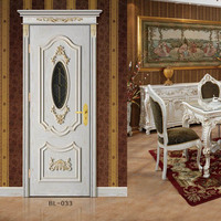 China painting wooden door for interior furniture