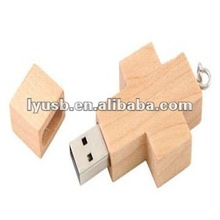 cross wood usb pendrive 2gb 4gb,crossing wooden usb flash memory 4gb,wooden crossing shape usb flash memory driver 4gb