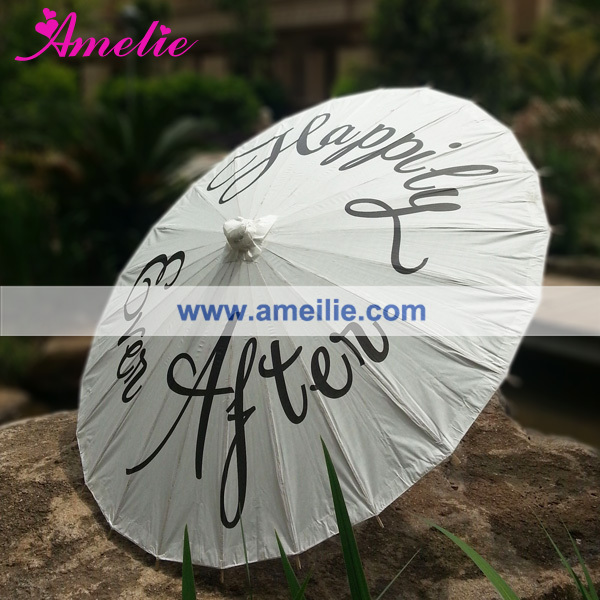 Customized Printed Happily Ever After paper parasol