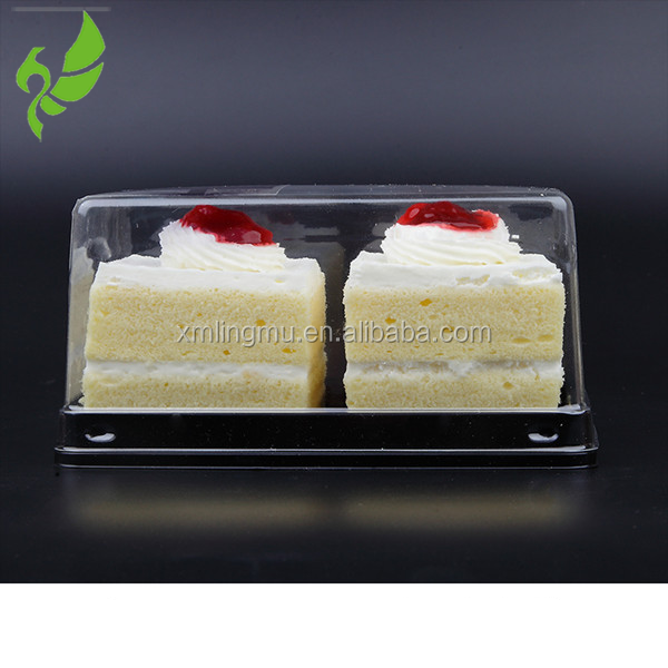 recycle PET disposable plastic cake tray with lid custom size double layer