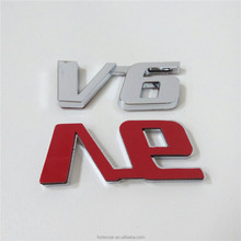 Car custom Chrome ABS 3D V6 Letter nameplate Badge Emblem