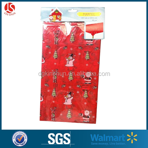 Christmas family party,celebration party,cute plastic table cover for decorate