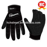 HC Custom leather motorcycle gloves racing