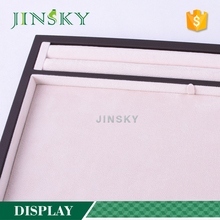 Custom made white pu leather diamond ring display trays from Yadao