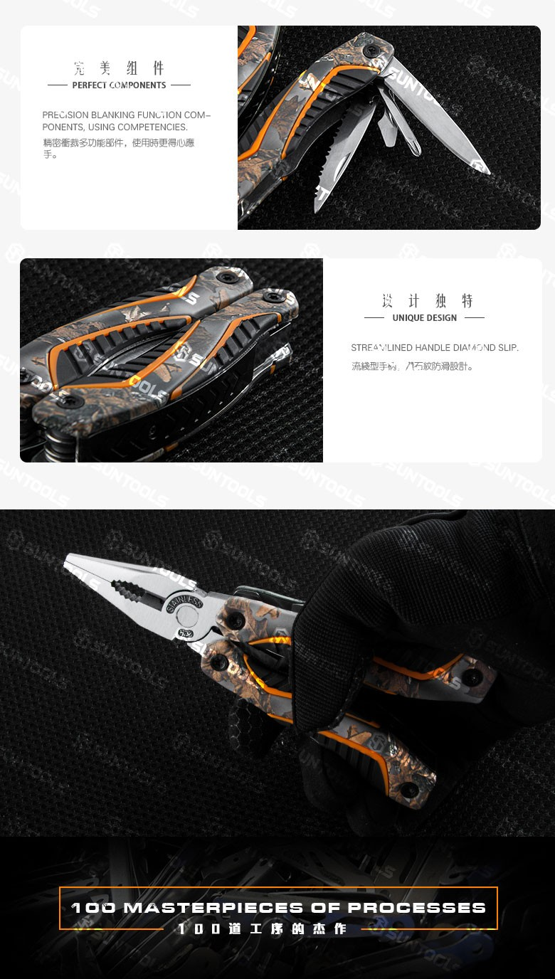 Good quality 11 in 1 Multi Outdoor hand -tool pliers