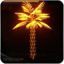 H:3m led lighted outdoor artificial palm tree