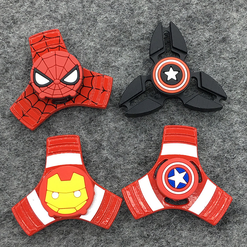 Cute Kawaii DC Avenge Characters Pokeball Fidget Toy Hand Spinner Batman Metal Finger Stress Puzzle