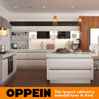 White European Style Modern Lacquer Ready Made Kitchen Cabinets for sale