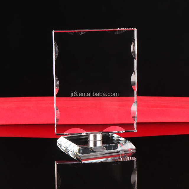 Crystal rotating frame awards glass plaque sport cup award trophy