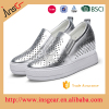 hight quality leather cutout design rubber sole stealth insole handmade woven elastic shoes