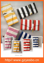 Two-tone Zipper Style 3 Fold Leather Wallet Case for iPhone 5 with Strap ,for samsung S3 S4 S5 Note2 Note3 covers