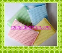 net cloth scouring pad with colorfull sponge inside
