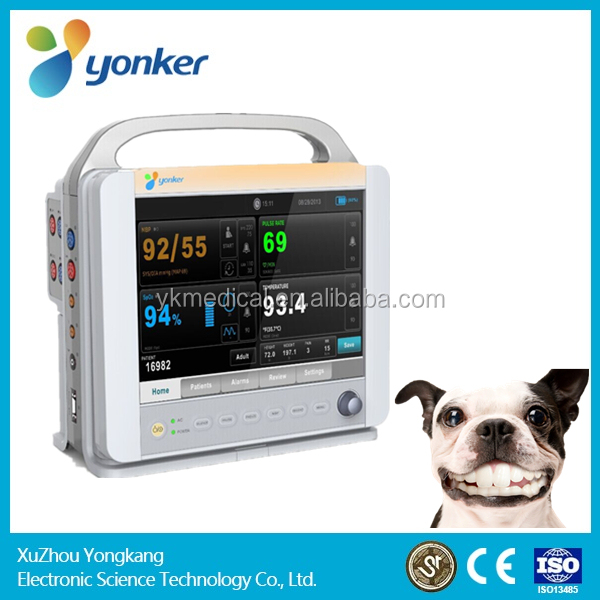 Portable Veterinary ICU vital Sign Patient monitor 6 Parameters for VET