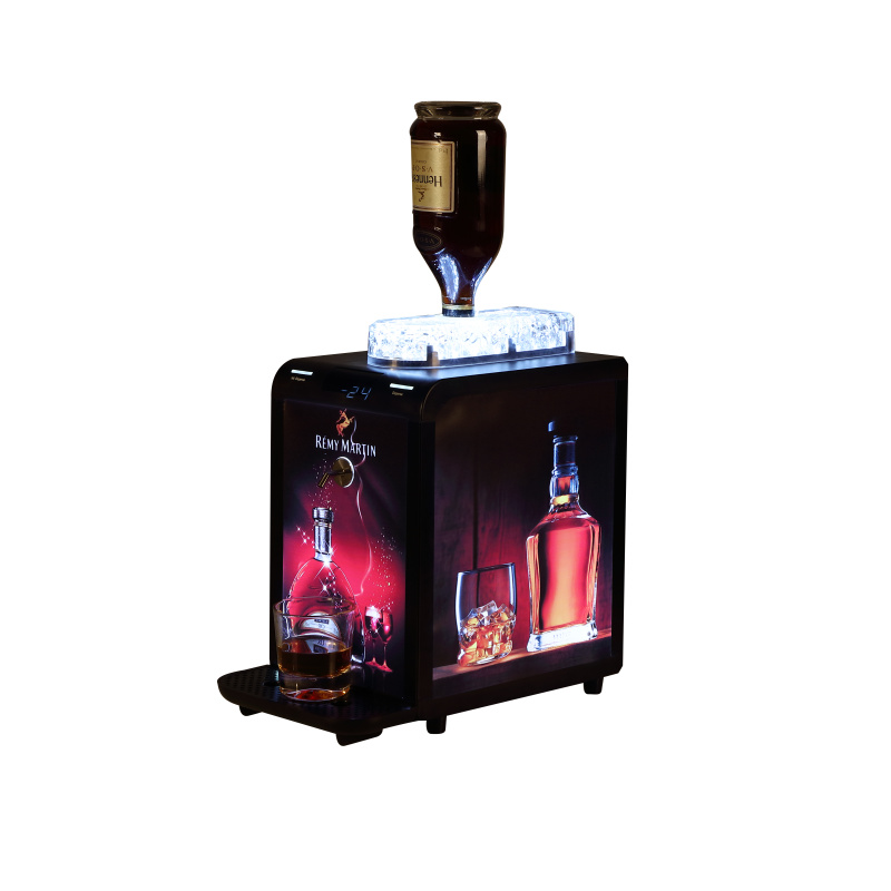 Instant Electric Wine Beer Liquor Cooler Chiller Dispenser Machine for 1 bottle, with LED glorifier