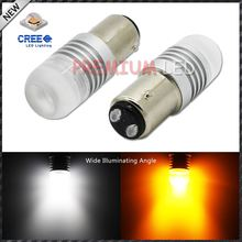 1157 2057 2357 20w High Power XB-D Super Bright White/Amber Shine Switchback LED Bulbs for car Front Turn Signal Lights