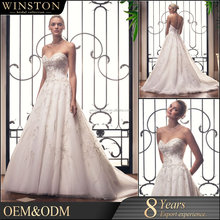 high-quality long train high quality winter wedding dress for big size woman