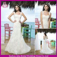 SD2169 lace straps elegant mermaid wedding dresses China wedding dress in cream color