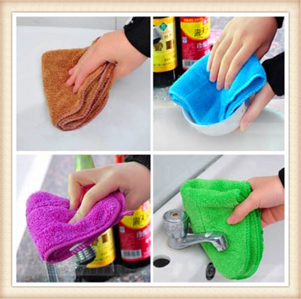 Kitchen dish cup sponge chenille microfiber dish washing cloth