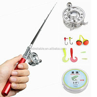 1M. SF-H model.SF8 Fly Reel rod. Fibre Glass rod. Portable Pocket Pen fishing rod.
