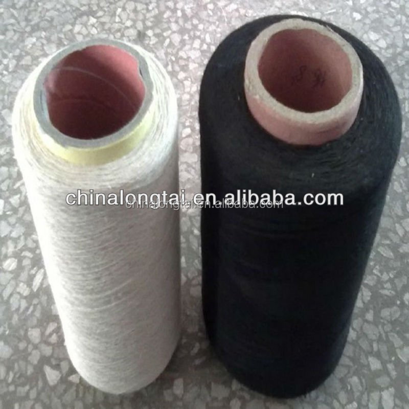 7s 10s 65/35 % white color recycled polyester cotton yarn